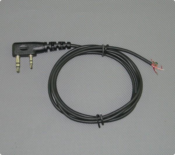 Kabel mit Kenwood kompatiblen Doppel Klinkenstecker 2,6 [mm] Durchmesser 100 [cm] Länge