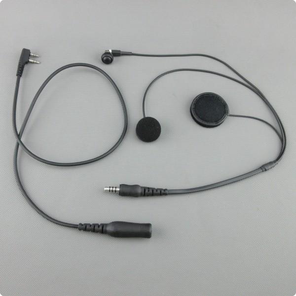 Paragliding Headset HS100p-ptt mit Einbau PTT-Taste