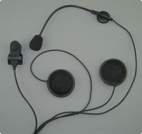 Motorrad Helm - Einbauheadset - JET-/ SYSTEMHELM