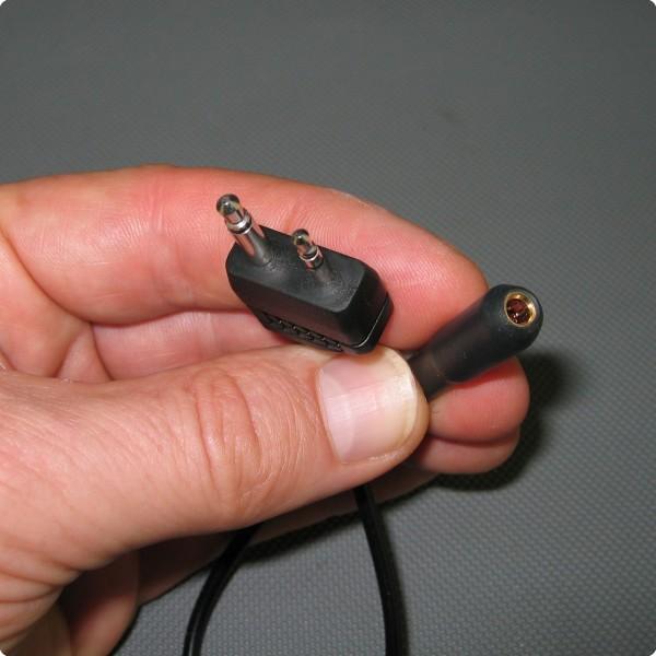 Adapterkabel von Doppelklinkenstecker auf 3,5 [mm] Buchse (female)