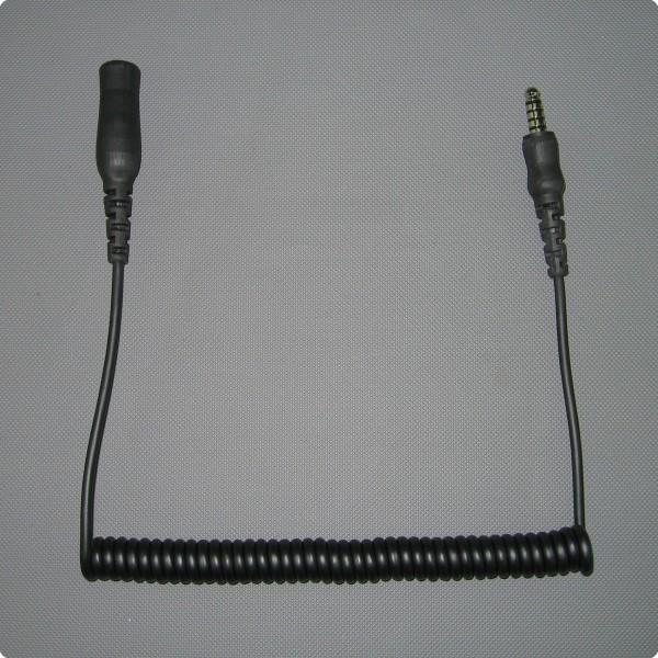 Spiralkabelverlängerung für 5 Pin Peltor® kompatibel