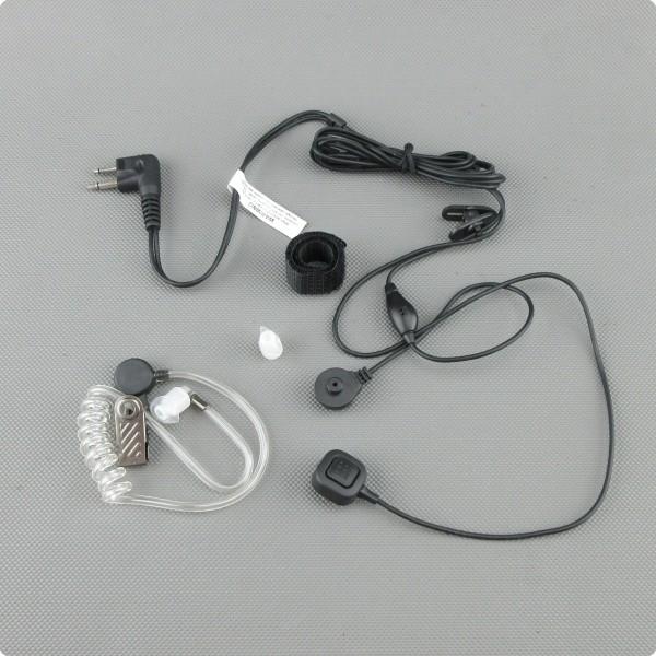 2 Kabel Securityheadset mit abgesetzter PTT-Taste Motorola 2 Pin Stecker