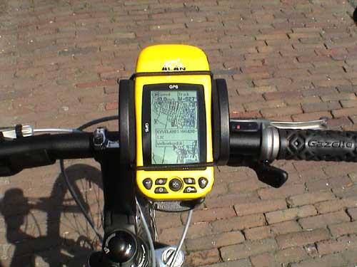 GPS-Modul in Fahrradhalterung