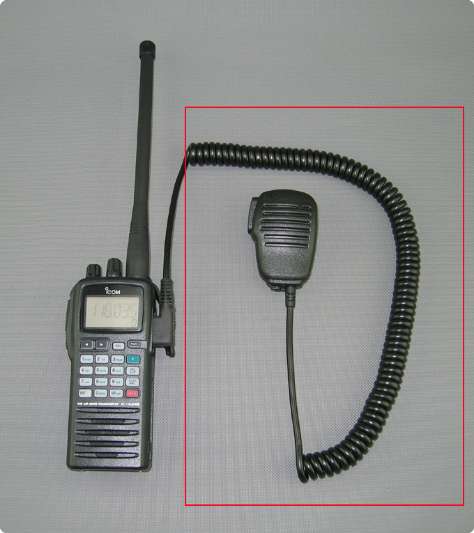 Lautsprecher Mikrofon Icom Air Radio