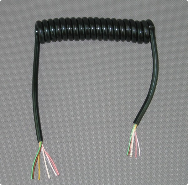 5 x 0.14 PUR Spiralkabel / Wendelkabel / Spiralleitung Industriequalität