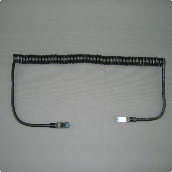 Patchkabel CAT.6A S/FTP Spiralkabel
