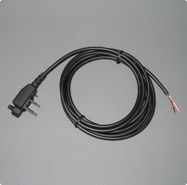 Kabel mit Icom® kompatiblen Klinkenstecker - Schraubsicherung 4,6 [mm] / 200 [cm] Länge