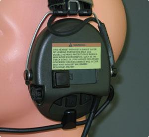 Seitliche PTT-Taste im MSA Sordin Headset