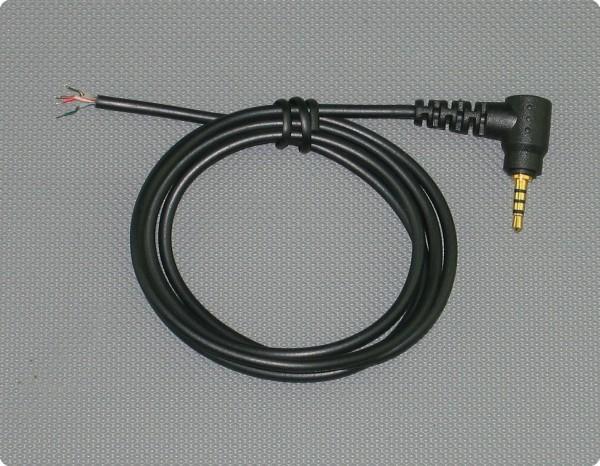 Kabel 2,5 [mm] 4-Pol Klinkenstecker 2.6 [mm] Durchmesser 100 [cm] Länge