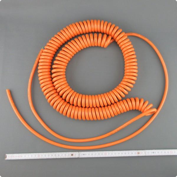Spiralkabel 3x1.5 mm² ,CE, Sonderwicklung großer Spiralblockdurchmesser