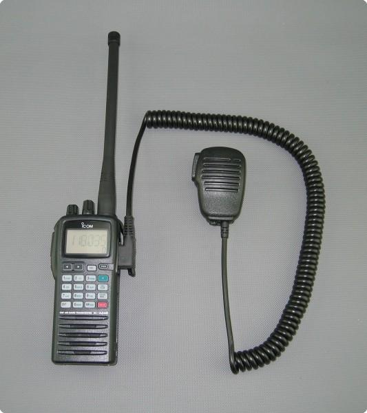 Mikrofon für Icom Flugfunk IC-A20 IC-A24 IC-A15 IC-A6E IC-A3E IC-A22E...