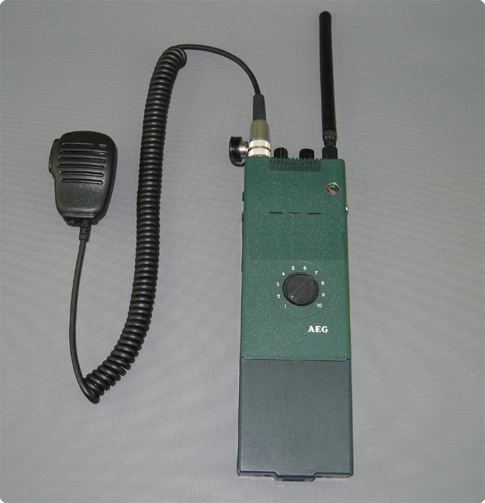 Lausprechermikrofon FUG mitBehördenfunkgerät