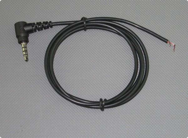 Kabel 3,5 [mm] Yaesu 4-Pol 90° Klinkenstecker 2.6 mm] Durchmesser 100 [cm] Länge