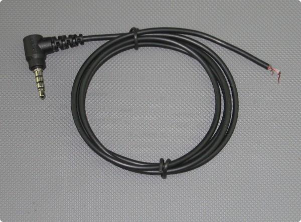 Kabel 3,5 [mm] 4-Pol 90° Klinkenstecker 2.6 mm] Durchmesser 100 [cm] Länge